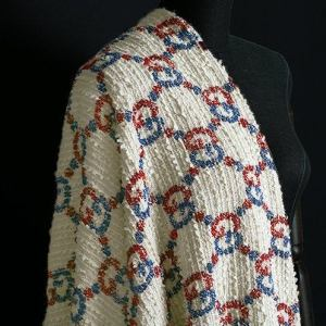 Gucci Fabric Polyester Cotton tweed Fabric Gucci logo  VERY RARE Limited Edition/By order Only! Incredible Amazing Gucci Cotton Tweed Fabric