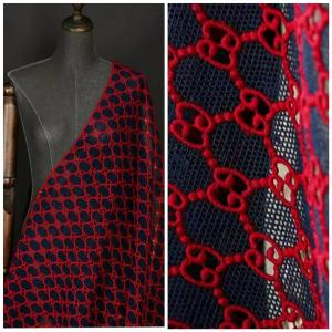 Gucci Embroidery Jacquard Lace#5 Cotton Designer Gucci Fabric/Gucci Fabric/Jacquard GG Couture Fabric Various Colours/Italian Couture Fabric