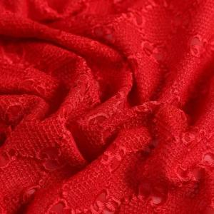 Gucci Silk Embroidery Cotton base Lace #2 Red Fabric/Italian GG Logo Embroidered Fabric/Couture Lace Fabric 4 colours available