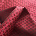 New!Gucci Jacquard Monogram Print in Dark RED BLACK Logo/By order Only/Gucci Jacquard Fabric colours available/For Clothing,Bags,Upholstery