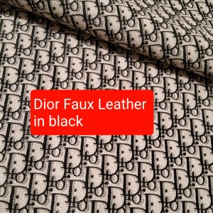 DIOR Leather Imitation Black/Dior faux leather/D logo sneakers fabric/Customs Made Faux Leather D