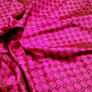 Gucci fabric,New Arrival,colour Raspberry ,thin,soft,double sided.Price for lot,Gucci summer fabric