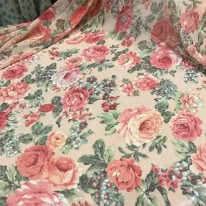 Italian Designer Chiffon Roses Print Fabric Fashion week fabric/Floral pattern Chiffon Silk Fabric