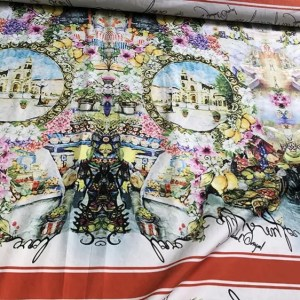 Dolce Gabbana Cotton fabric Sicily pattern Fashion week Fabric/Also available in jacquard