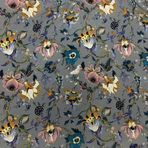 Emanuel Ungaro Silk Stretch Fabric/New Collection Embroidery Effect Silk Fabric/Italian Designer fashion week fabric
