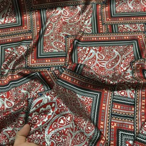 Etro silk fabric/New Collection Paisley print italian silk/Fashion week fabric