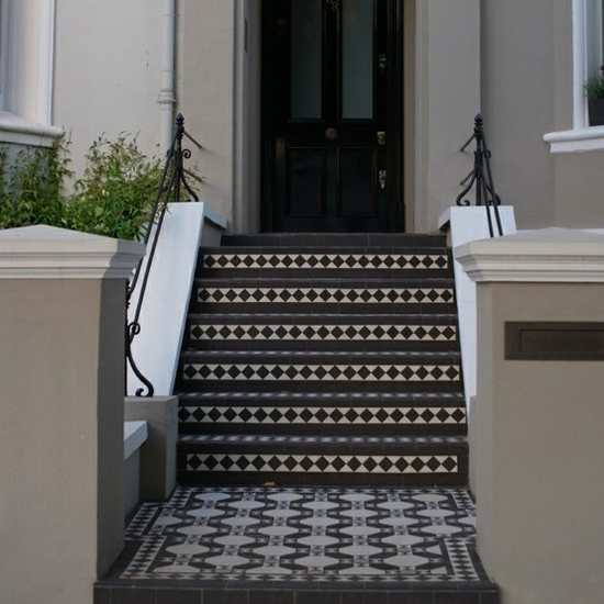 Decorative Front Step and Porch Tiles