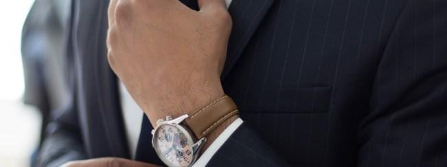 man met horloge