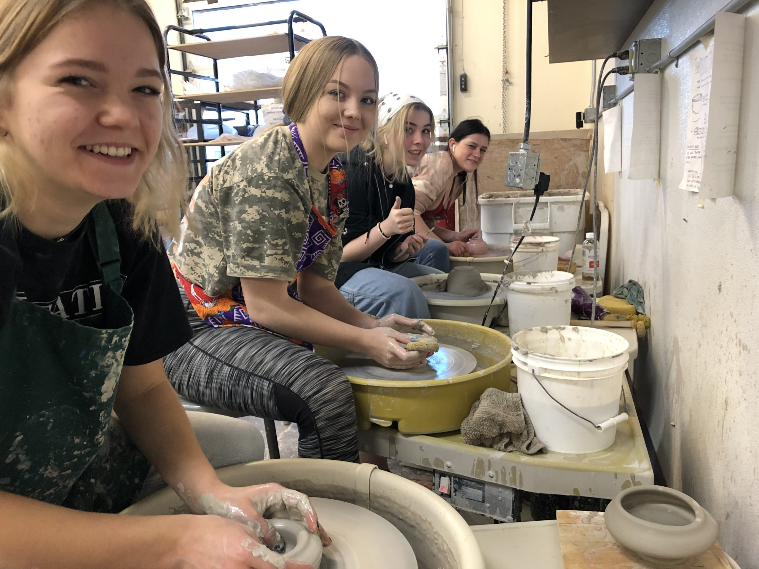 Redmond Proficiency Academy Ceramics Students Dig Deep