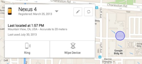 Android Device Manager is Google's Find My iPhone