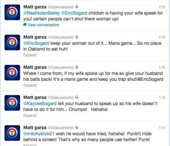 Texas Rangers Matt Garza Attacks Opponent's Wife…on Twitter