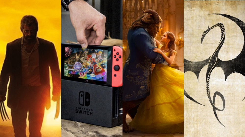 Logan Iron Fist Beauty and the Beast Nintendo Switch March 2017