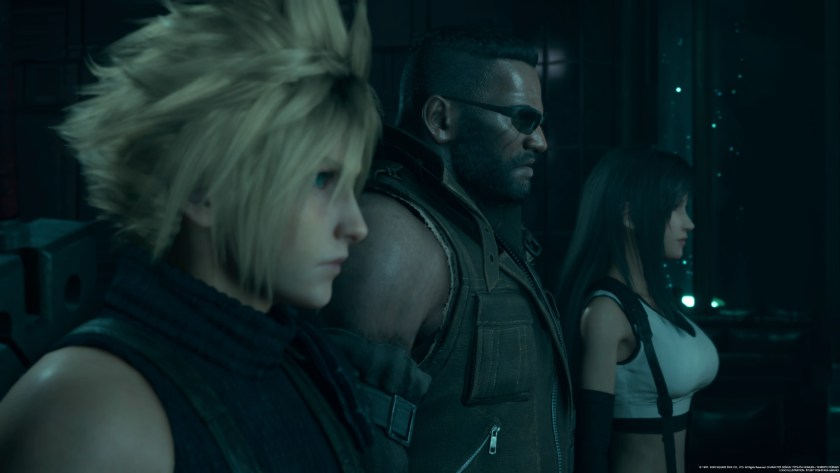 Cloud, Barret, and Tifa Final Fantasy VII Remake