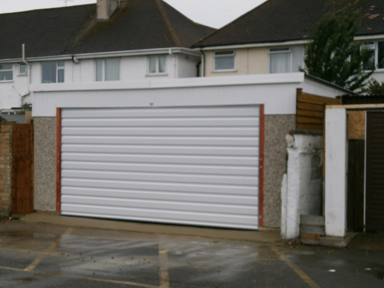 LEAN TO BACK DOUBLE GARAGE PICTURE 1 768x576 - Double Garages