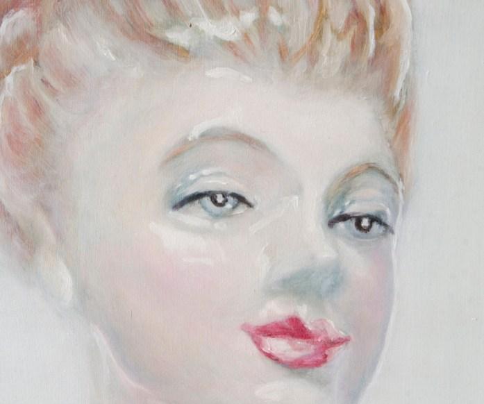 porcelain figure study oil painting face detail