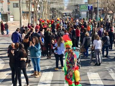 La desfilada a Platja d'Aro