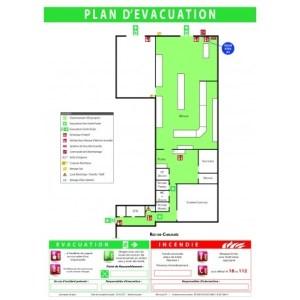 plan d'évacuation