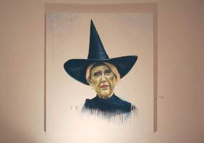 The Wicked Witch of the Southwest, Eric Cox, oil on canvas, 2013. Photo by Todd Grossman.