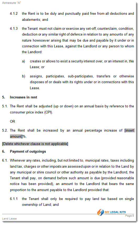 Lease For Agricultural Land Agreement Template