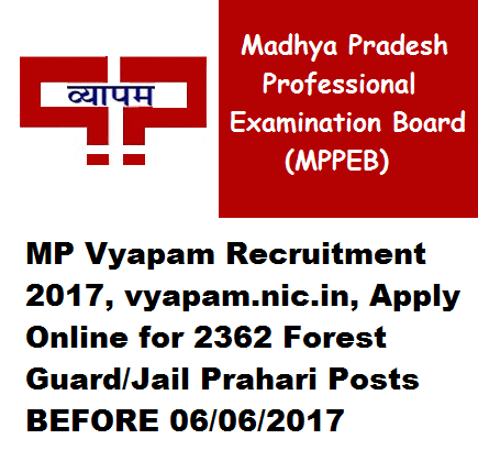 Mp Vyapam Recruitment 2017 Vyapam Nic In Apply Online