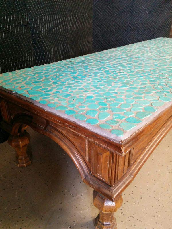 CUSTOM TURQUOISE COFFEE TABLE