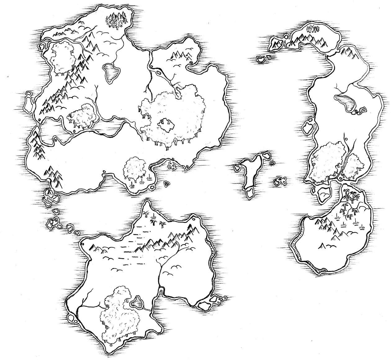 Blank Fantasy World Map Black And White