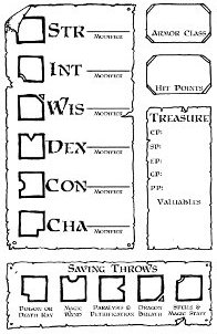 Character Sheet Preferences and a Labyrinth Lord sheet