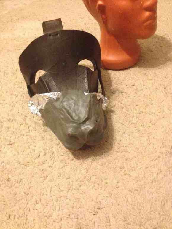 Как сделать маску оборотня этап 6