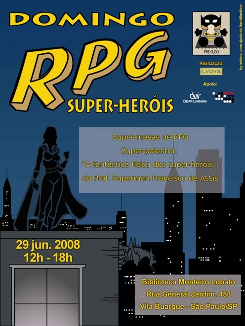 Domingo RPG - Super-Heróis