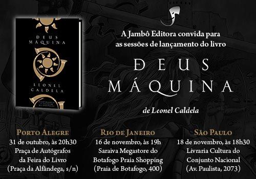 lançamento deus maquina Deus Máquina já está disponível na Loja Jambô! + Lançamentos em PoA, RJ e SP
