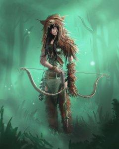 Ranger com um grande felino como companheiro animal e membro bondoso de uma raça subterrânea maligna... onde é que já vi isso antes mesmo?