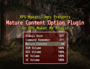 Mature Content Option Plugin
