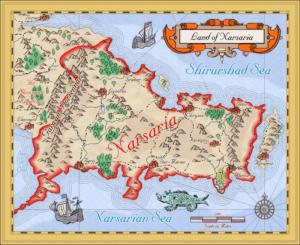 Narsaria in Mercator style