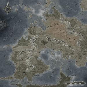 World map by Richard T Drake
