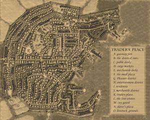 Trader's Peace Pirate City Map