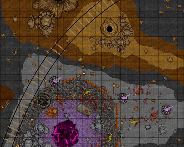 Mine Level 6 AOI 11 Scrolled Battlemap