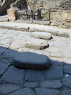 Stepping stones in a Pompeii street