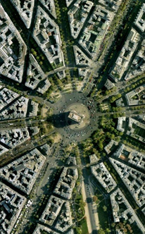 A radial street network in Paris