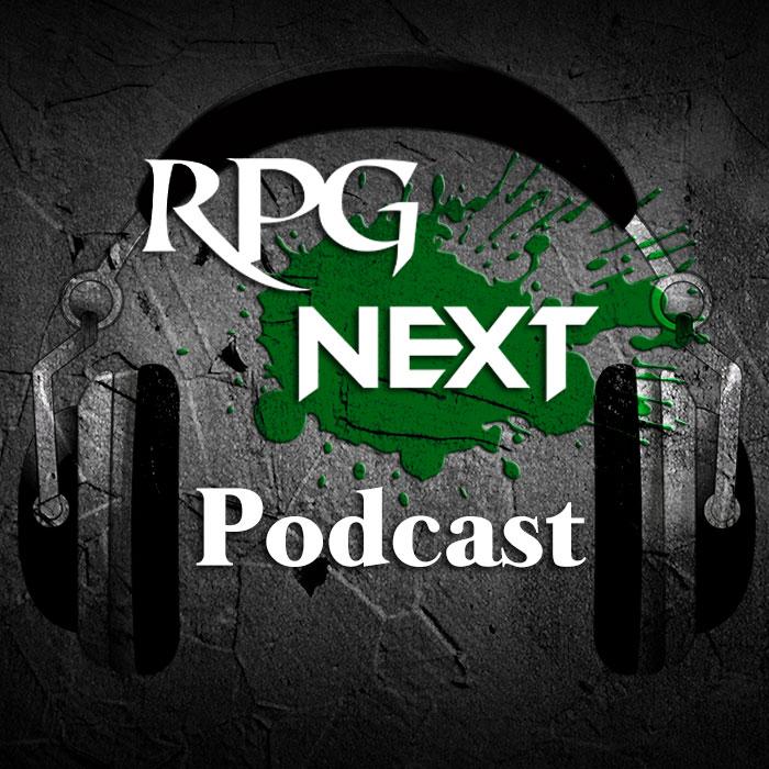 Marca RPG Next Podcast com headset