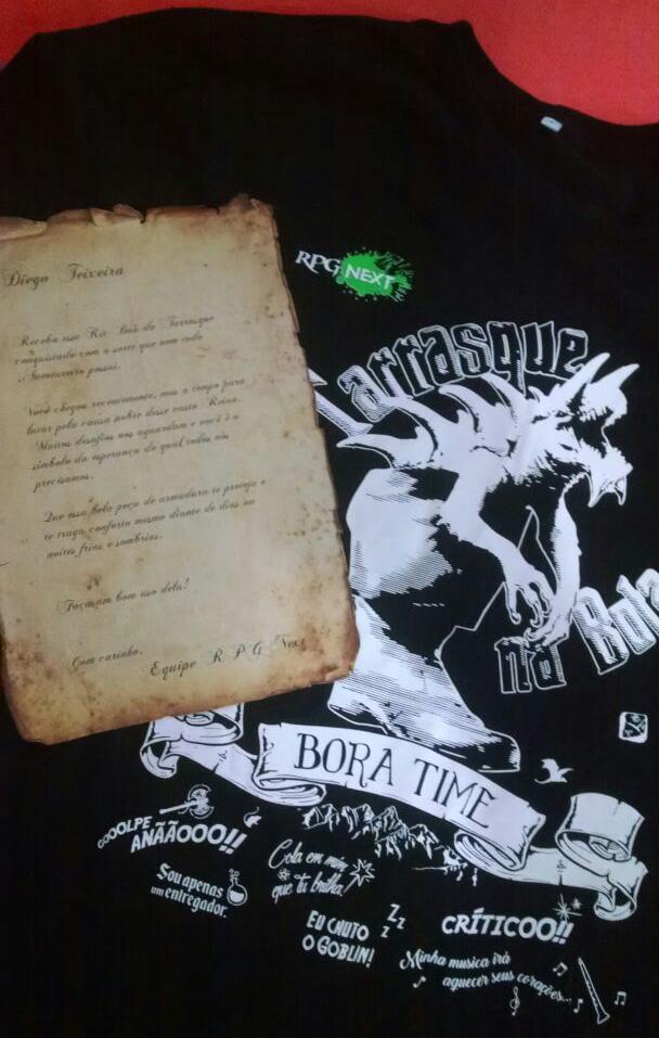 Camiseta Tarrasque na Bota com Carta