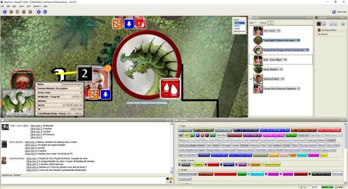 Imagem do Maptool - Close do Token do Dragão