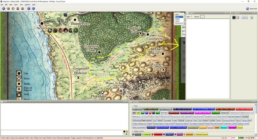 Imagem do Maptool - Mapa da Aventura
