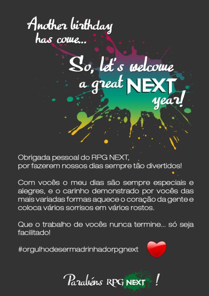 Texto de Aniversário do RPG Next de 2 anos - por Lucy