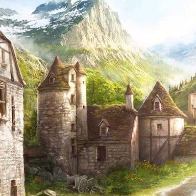Vista da cidade de Phandalin