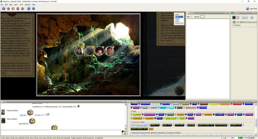 Imagem do Maptool - Entrada da Caverna do Eco da Onda