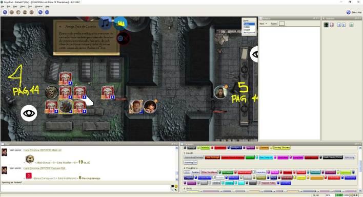 Imagem do Maptool - Encontro com Esqueletos
