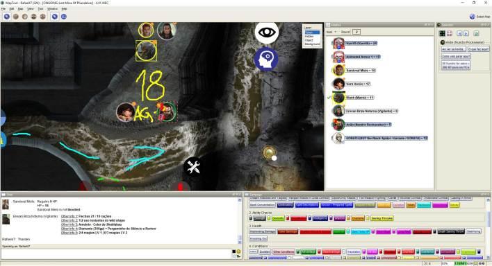 Imagem do Maptool - Encontrando o Martelo de Ferro