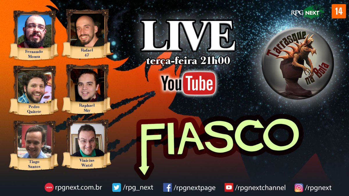 TnB LIVE - FIASCO RPG - Bounty Hunter Blues 01 - Criando personagens