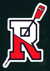 """Rensselaer Crew """"R"""" with oar sticker"""