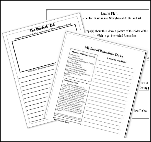 The Perfect 'Eid Storyboard [Lesson Plan & Worksheets]
